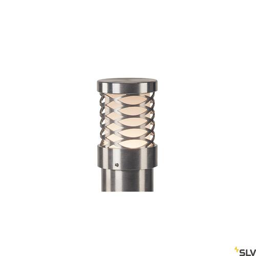 TRUST 60, outdoor floor stand, LED, 3000K, IP55, stainless steel 316, Ø/H 6/60 cm, 8.6W